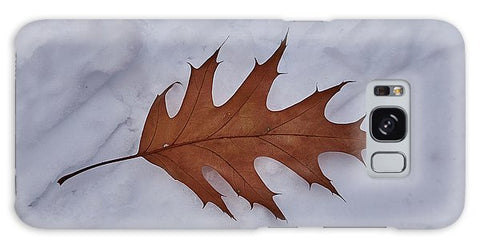 Leaf On The Snow - Phone Case - Galaxy S8 Case - Phone Case