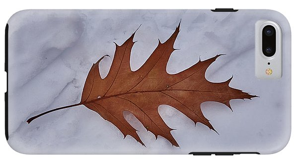 Leaf On The Snow - Phone Case - Iphone 7 Plus Tough Case - Phone Case