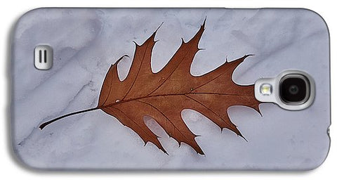 Leaf On The Snow - Phone Case - Galaxy S4 Case - Phone Case