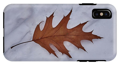 Image of Leaf On The Snow - Phone Case - Iphone Xs Max Tough Case - Phone Case