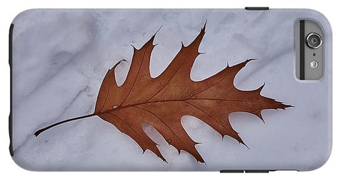 Image of Leaf On The Snow - Phone Case - Iphone 6 Plus Tough Case - Phone Case