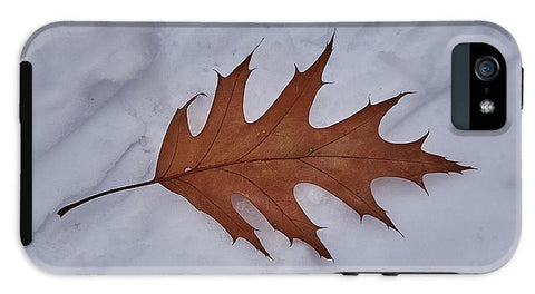 Image of Leaf On The Snow - Phone Case - Iphone 5 Tough Case - Phone Case