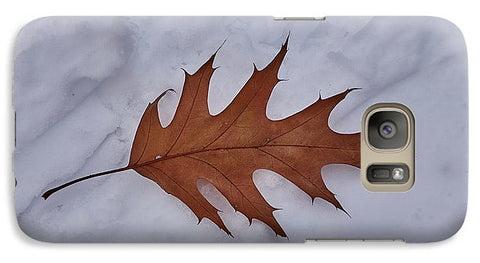 Leaf On The Snow - Phone Case - Galaxy S7 Case - Phone Case