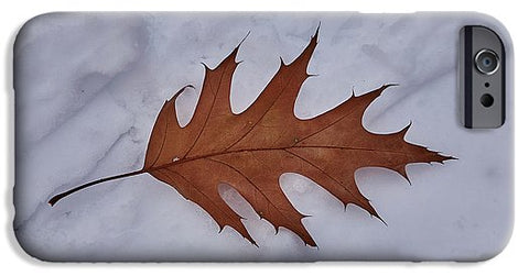 Image of Leaf On The Snow - Phone Case - Iphone 6S Case - Phone Case