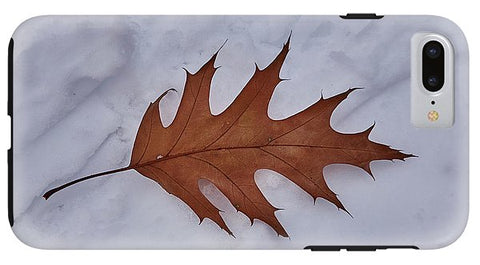 Image of Leaf On The Snow - Phone Case - Iphone 8 Plus Tough Case - Phone Case