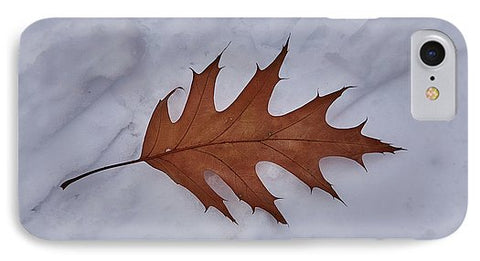 Image of Leaf On The Snow - Phone Case - Iphone 8 Case - Phone Case