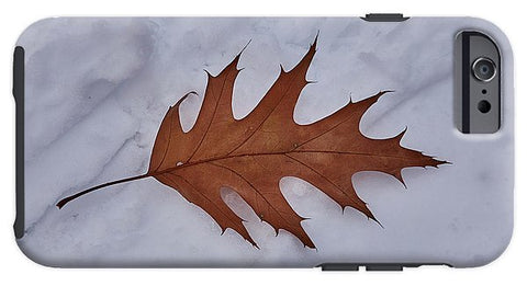 Image of Leaf On The Snow - Phone Case - Iphone 6 Tough Case - Phone Case