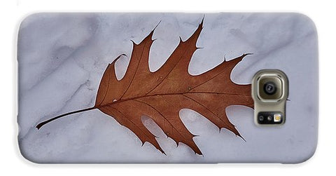 Image of Leaf On The Snow - Phone Case - Galaxy S6 Case - Phone Case