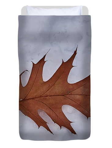 Leaf On The Snow - Duvet Cover - Twin - Duvet Cover