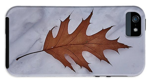 Image of Leaf On The Snow - Phone Case - Iphone 5S Tough Case - Phone Case