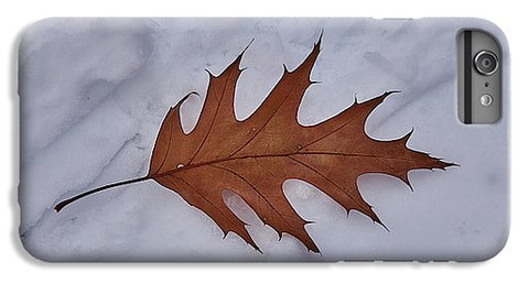 Image of Leaf On The Snow - Phone Case - Iphone 8 Plus Case - Phone Case