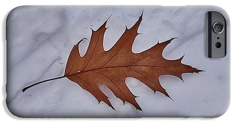Image of Leaf On The Snow - Phone Case - Iphone 6 Case - Phone Case
