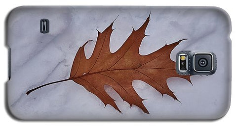 Leaf On The Snow - Phone Case - Galaxy S5 Case - Phone Case