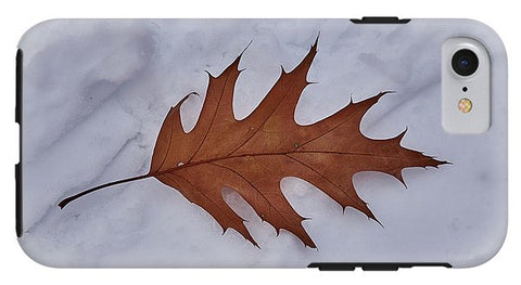 Image of Leaf On The Snow - Phone Case - Iphone 8 Tough Case - Phone Case
