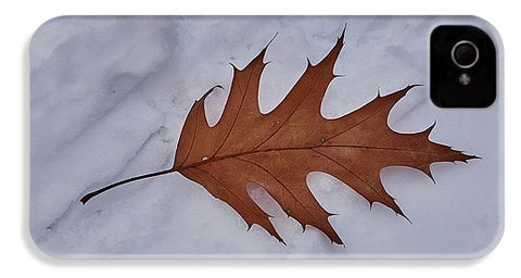 Leaf On The Snow - Phone Case