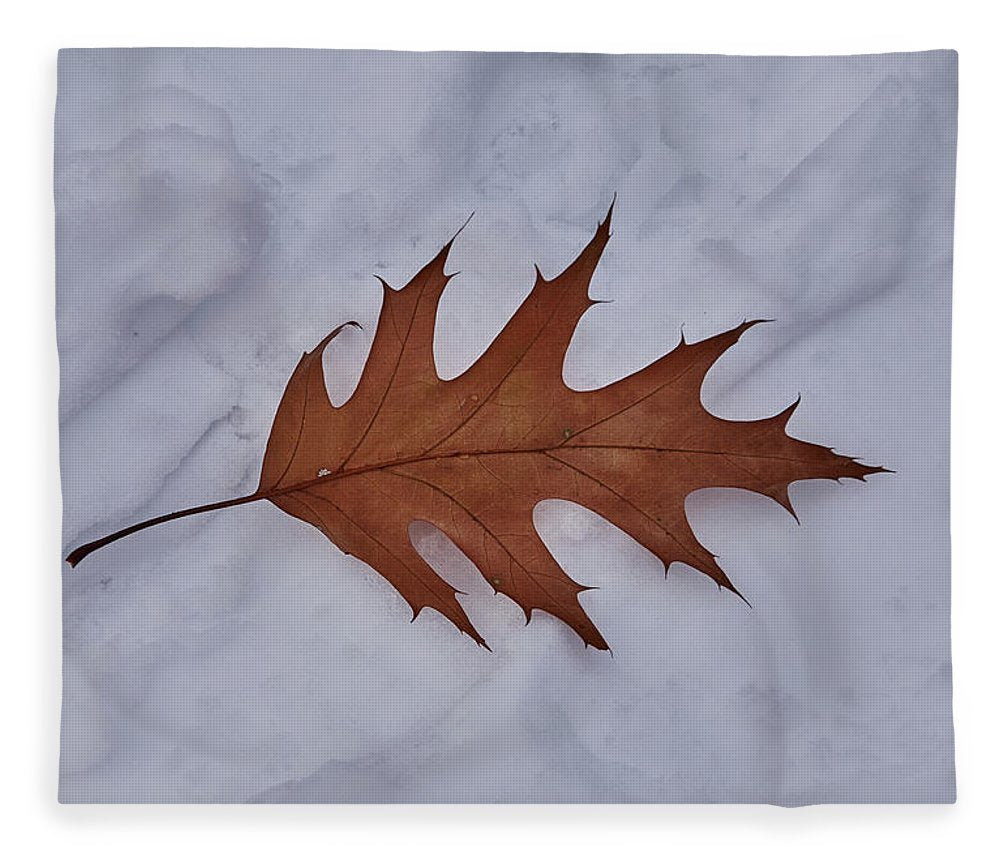 Leaf On The Snow - Blanket - 50 X 60 / Plush Fleece - Blanket