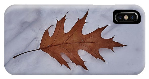 Image of Leaf On The Snow - Phone Case - Iphone Xs Case - Phone Case