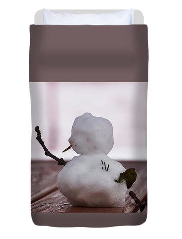 Image of Little Big Snow Man - Duvet Cover