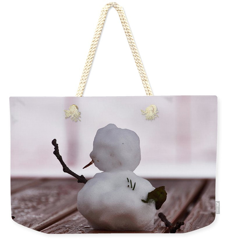Little Big Snow Man - Weekender Tote Bag - 24 X 16 / Natural - Weekender Tote Bag