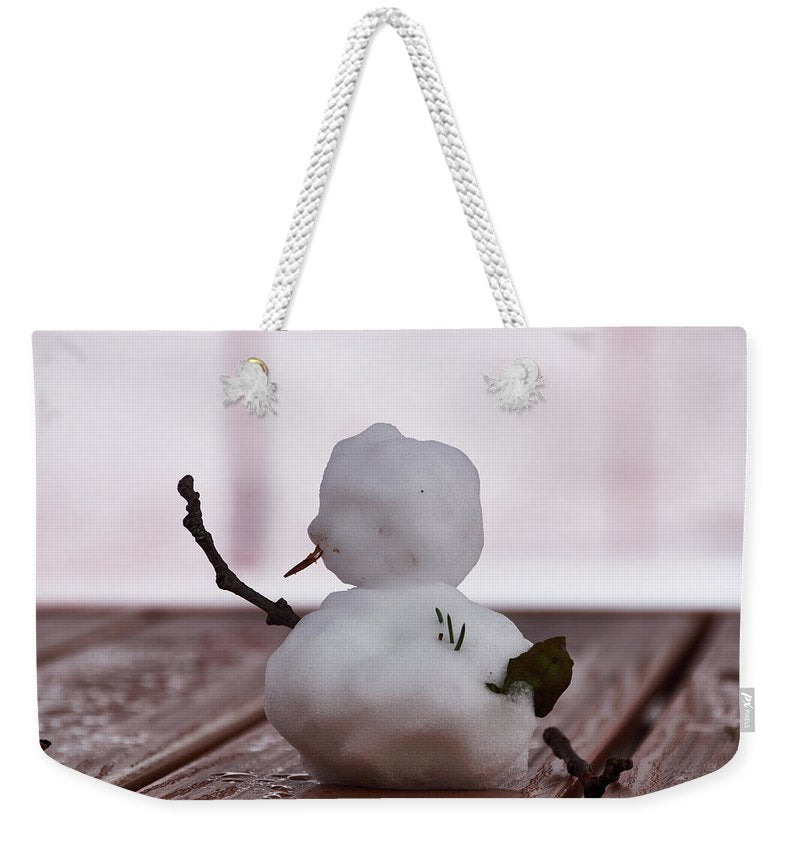 Little Big Snow Man - Weekender Tote Bag - 24 X 16 / White - Weekender Tote Bag