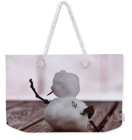 Image of Little Big Snow Man - Weekender Tote Bag - 24 X 16 / White - Weekender Tote Bag