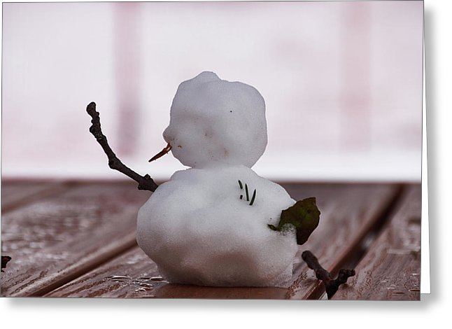 Little Big Snow Man - Greeting Card