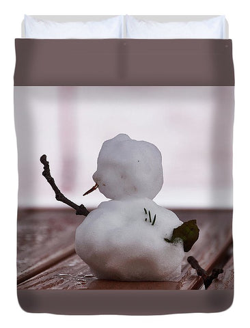 Image of Little Big Snow Man - Duvet Cover - Full - Duvet Cover