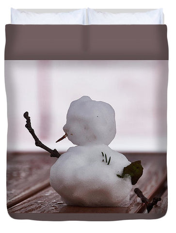 Image of Little Big Snow Man - Duvet Cover - Queen - Duvet Cover