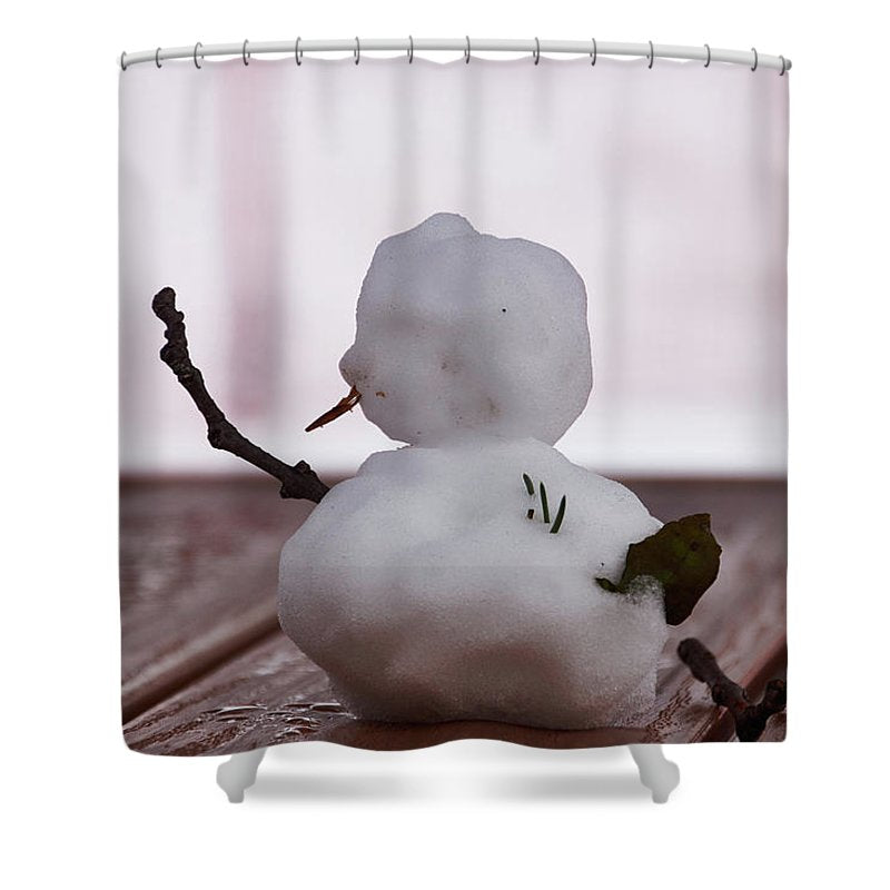 Little Big Snow Man - Shower Curtain - 71 X 74 Standard - Shower Curtain