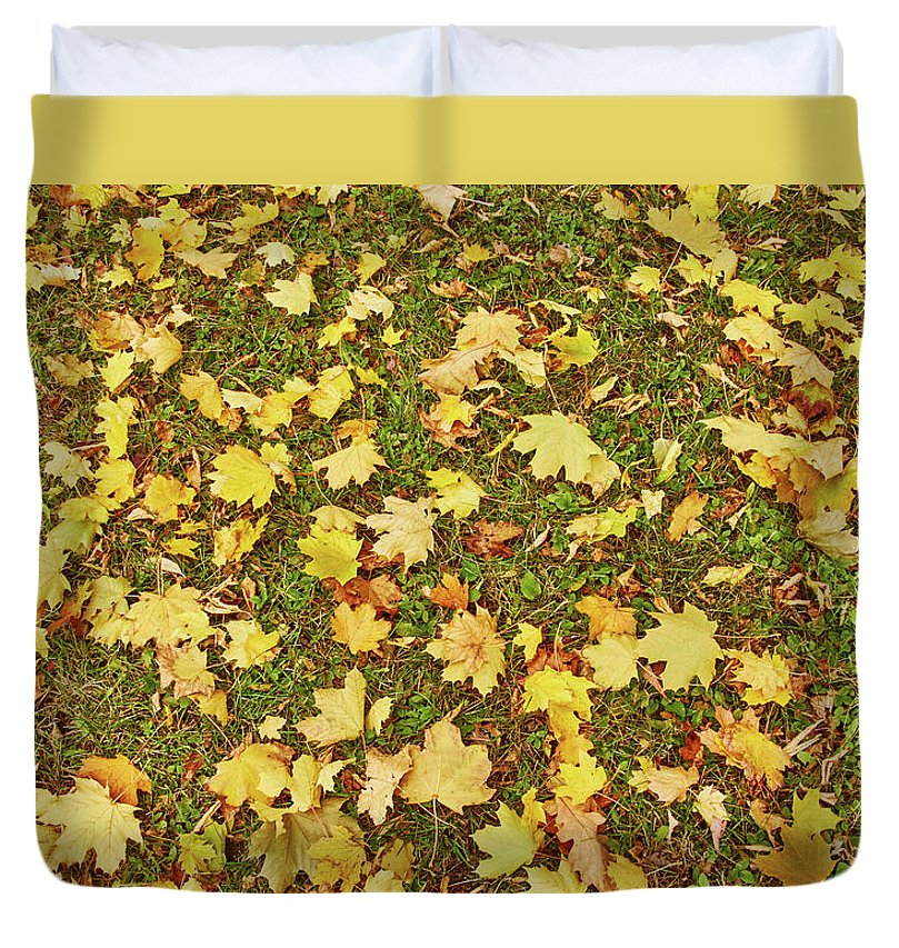 Maple Leafs On The Ground - Duvet Cover - King - Duvet Cover