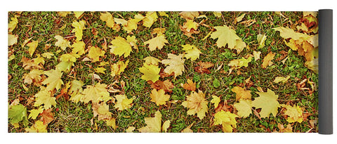 Image of Maple Leafs On The Ground - Yoga Mat - 24 X 72 - Yoga Mat