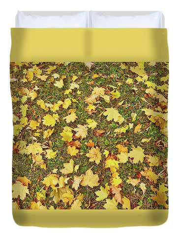 Image of Maple Leafs On The Ground - Duvet Cover - Full - Duvet Cover