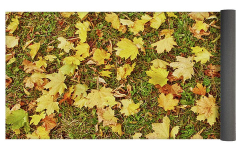 Image of Maple Leafs On The Ground - Yoga Mat - Yoga Mat