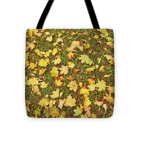 Image of Maple Leafs On The Ground - Tote Bag - 16 X 16 - Tote Bag