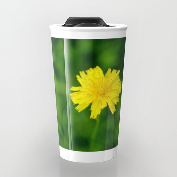 Travel Mugs - Yellow flower