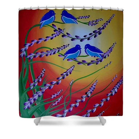 Oiseaux Du Paradis - Shower Curtain