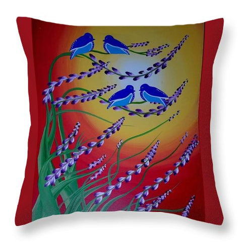 Image of Oiseaux Du Paradis - Throw Pillow