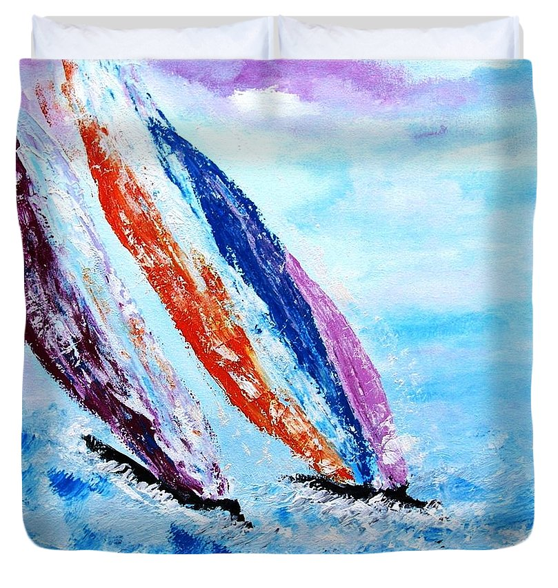 On The Waves Of Freedom - Duvet Cover