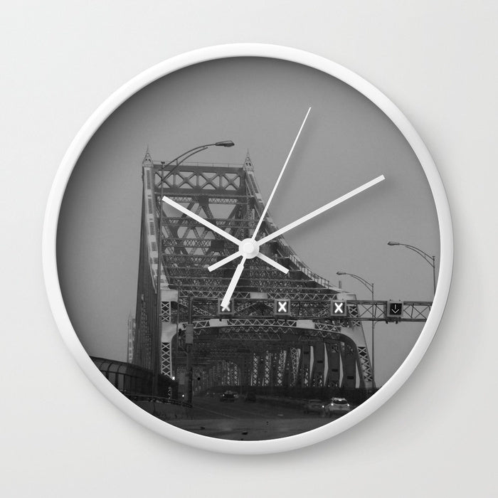 Wall Clock - Jacques-Cartier Bridge In Canada - Wall Clock