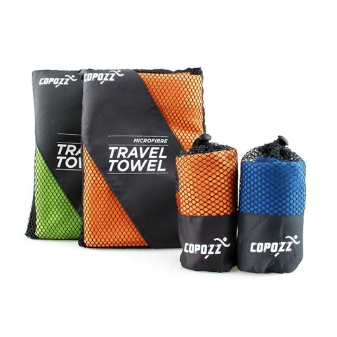 Image of Copozz Brand Swimming Towels Easy Dry Swim Diving Cycling Microfiber Larger Size Sports Travel Gym Towels Size L(75.5*128.5cm)