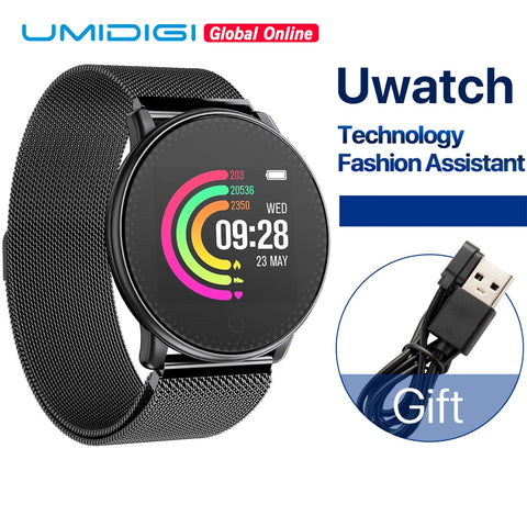 UMIDIGI Uwatch Smart Watch For Andriod, IOS OS 64KB 512KB Global Version Passometer Fitness/Sleep Tracker 25 days Standby Time