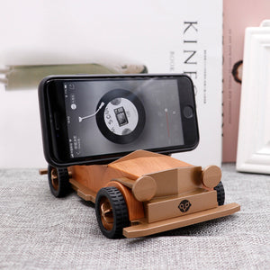 AS60 Wooden Retro Old Car Bluetooth Speaker Wireless Mini Sound Box for Children/lovers with TF Card USB AUX FM Radio