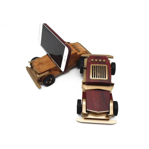 Image of AS60 Wooden Retro Old Car Bluetooth Speaker Wireless Mini Sound Box for Children/lovers with TF Card USB AUX FM Radio