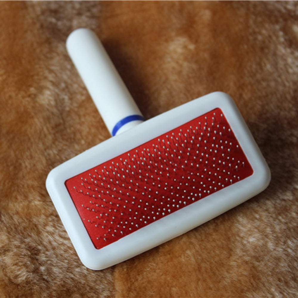 Red Puppy Cat Hair Grooming Slicker Comb Gilling Brush Quick Clean Tool Pet Brand New Free Shipping - Pet Products