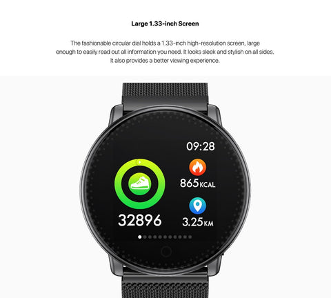 Image of UMIDIGI Uwatch Smart Watch For Andriod, IOS OS 64KB 512KB Global Version Passometer Fitness/Sleep Tracker 25 days Standby Time