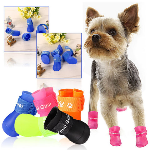 2016 New Invention Hot Dog Boot Waterproof Anti-Slip Pet Shoes Boot Dog Puppy Free Shipping 5 Colors Available Fashion Style - Pet Products
