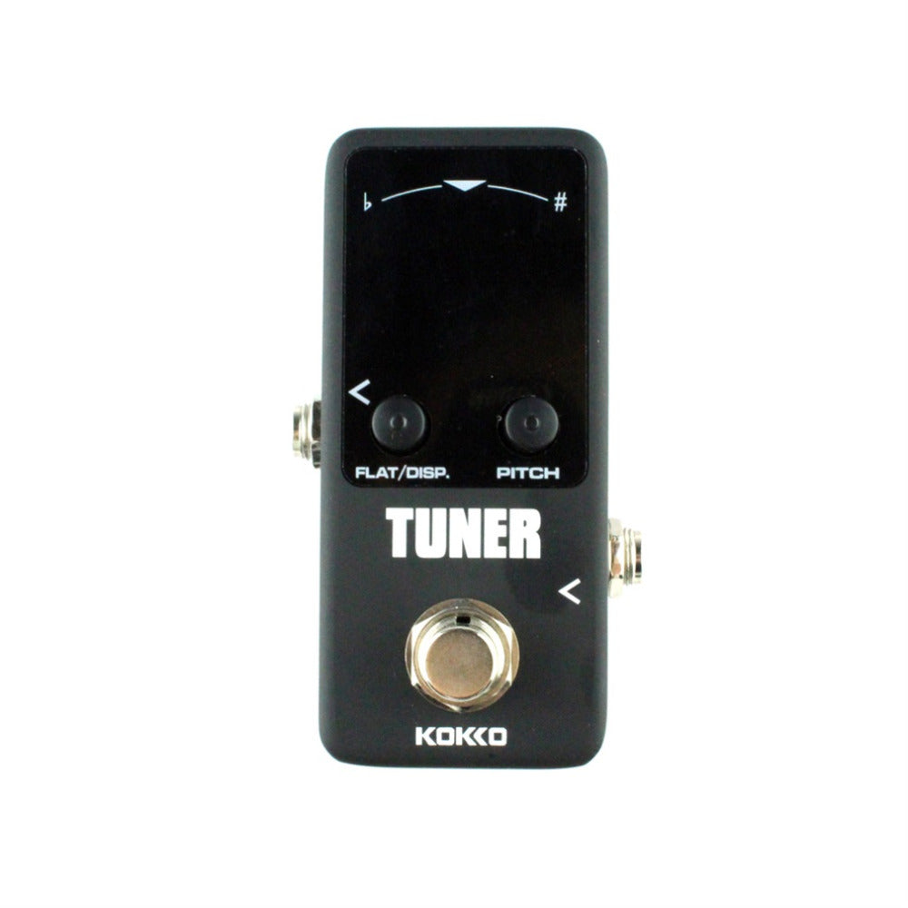 Mini Pedal Tuner Guitarra Guitar Bass Violin Ukelele Stringed Instruments Tuner Effect Device Dual Display Free Shipping - Pedal For