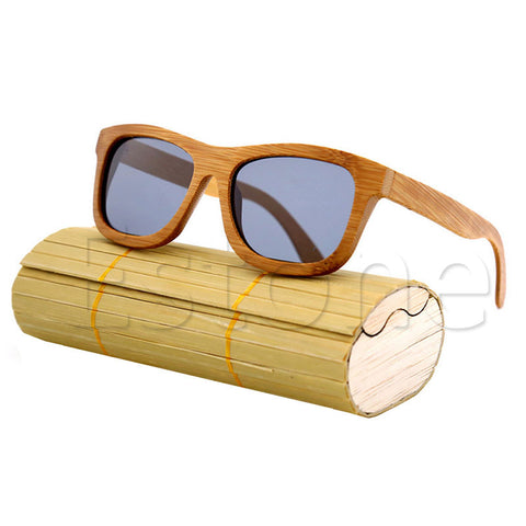 Handmade Men Women Bamboo Wooden Sunglasses Box Frame Glasses Case A21087-448E - Bamboo Products