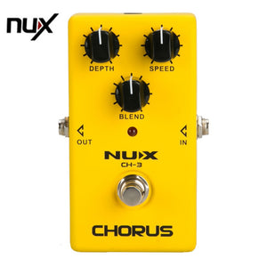 NUX Protable Guitar Simulation Chorus Effect Device CH-3 Guitar Effect Pedal Guitar Great Booster Yellow New Arrival