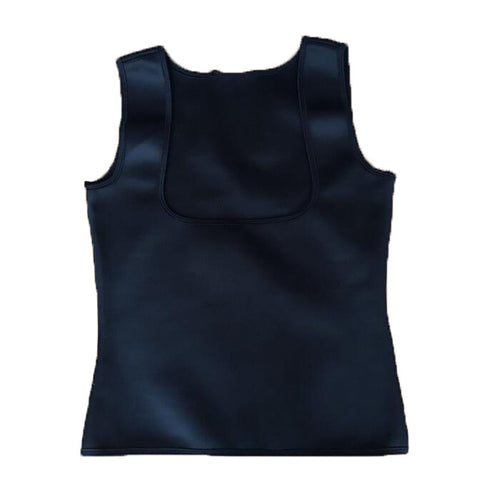 Neoprene Cami Vest Body Shaper - All Black / L - Fashionwomen